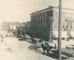 The Port Clinton Peach Harvest along E. 2nd Street. Image courtesy Ottawa Co. Museum.