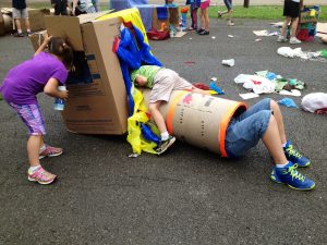 Tricia has held several pop-up play events for kids and families.